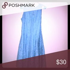 Blue lace dress Light blue lace dress keyhole front Dress Barn Dresses Midi