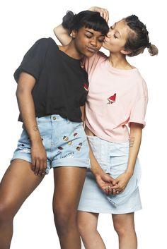 Kaiah (pronounced kay-ah) and mia black asian interracial couple Transgender, Lesbian Love, Lesbian Couples, Couple Aesthetic, Gay Aesthetic, Look Man, Interracial Couples, Biracial Couples, Poses