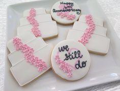 Wedding Anniversary biscuits