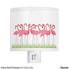 Cuban Pink Flamingos Night Light @zazzle #junkydotcom July 16 2016