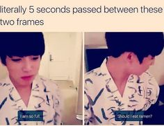 Jungkook... Well, I can't say anything because I do the same thing.