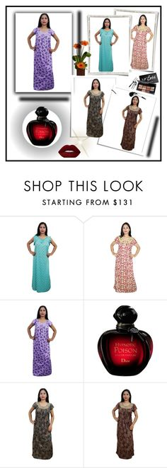 """""""WOMEN'S MAXI NIGHT WEAR"""" by lavanyas-trendzs ❤ liked on Polyvore featuring Lime Crime, Bobbi Brown Cosmetics, Summer, maxidress, Nightwear, Womens and nighty"""