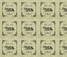 Oh! For Fox Sake fabric by rivalsun on Spoonflower - custom fabric