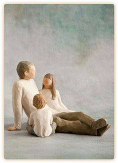 Willow Tree Families - Father w daughter and son