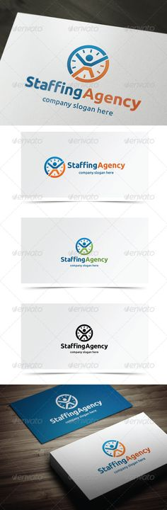 Staffing Agency Logo Design Template Vector #logotype Download it here: http://graphicriver.net/item/staffing-agency/6020993?s_rank=1568?ref=nexion