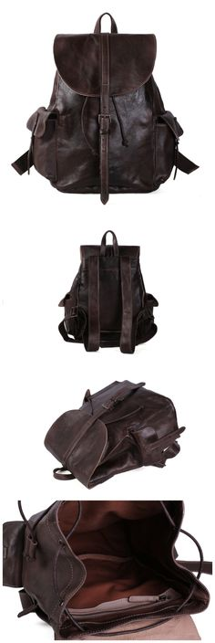 Leather Backpack/Rucksack/School Backpack/Travel Backpack
