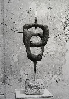 """noirdunuit: """"fw1991: Sculpture by Philippe Hiquily """""""