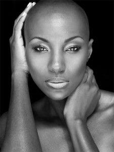 bald head natural hair
