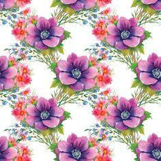 Flower seamless pattern set vector 02