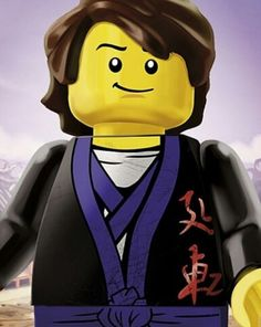 The Quiet One Lego 1 x Yellow Minifig Head White Painted Face Ninjago Harumi