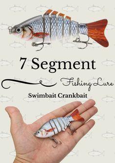 Multi Jointed Fishing Lure SUN-FISH Lifelike Hard Bait Swimbait - Bait Cast -and- Fish Reels