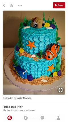 party ideen Does your child want a Finding Dory Birthday Party this year? Check out these 40 Finding Dory Birthday Party Ideas that will wow your party guests. Nemo Y Dory, Finding Nemo Cake, Finding Dory Birthday Cake, Fete Emma, Birthday Parties, 2nd Birthday, Children's Birthday Cakes, Birthday Ideas, Cupcakes