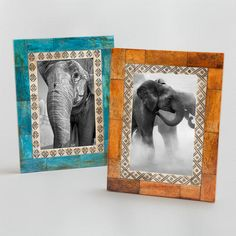 One of my favorite discoveries at WorldMarket.com: Zahara Tribal Carved Frame, Set of 2