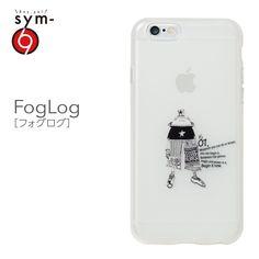 &y【sym】iPhone6 4.7インチ ソフトTPUケース キャラクター IMD光沢印刷 FogLog(フォグログ) 乳白クリア