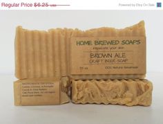 ON SALE Craft Beer Soap Brown Ale Gift ideas by HomeBrewedSoaps