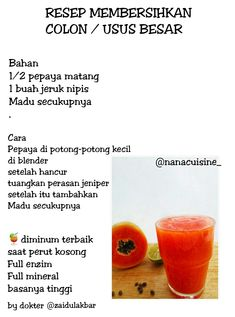 Resep kesehatan Healthy Juice Drinks, Healthy Menu, Healthy Juices, Healthy Tips, Healthy Recipes, Juice Recipes, Drink Recipes, Herbs For Health, Juicing For Health