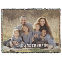 Photo Gallery Woven Photo Blanket | Home Decor | Shutterfly