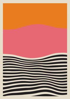 Framed Abstract Sunset Print, Abstract art, Painting print, Modern art, Abstract print, Wife gift, Wall decor, Modern Wall Art 18x27 11x17