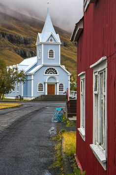 Seyðisfjörður, just one of many quaint villages in Iceland.
