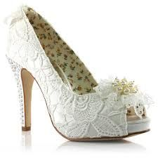 FLO - Ivory Crystal Wedding Shoes - : Glitzy n Glamorous - Bridal, Evening and Occasion Shoes & Accessories Lace Bridal Shoes, Peep Toe Wedding Shoes, Bridal Heels, Bride Shoes, Bridal Gown, Hippy Chic, Occasion Shoes, Lace Heels, Shoes 2014