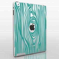 woodgrain iPad decal.