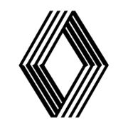 Renault corporate logo designed by Victor Vasarely and introduced in 1972