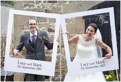 Polaroid frames, high house farm brewery, northumberland wedding, matfen, high house farm, katie byram photography, quirky wedding, wedding photography ideas.