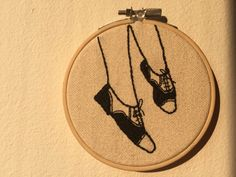 Twin Peaks Audrey Horne Shoes Handmade Stitch Embroidery Hoop Pattern Design Wall Art Home Decor Vintage Modern by StitchinForDays on Etsy