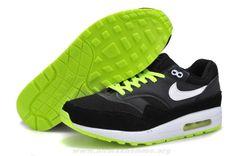 new style ffc16 7d613 pas cher Hommes Nike Air Max 1 Noir Gris Volt Blanc Chaussures 512033-014  Nike