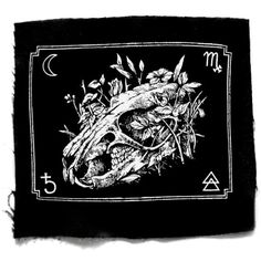 Rat Skull Gothic Patch for sale by One Hand Printing at MoreThanHorror.com