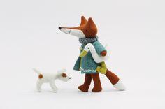felty fox, duck and dog