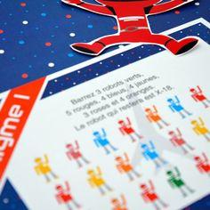Cette Chasse au trésor est un jeu sur le thème de l'Espace à organiser lors d'un anniversaire avec des enfants qui ne savent pas encore lire.