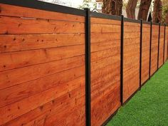 Simple and Modern Tips and Tricks: Garden Fence Spikes Wooden Fence Support Ark.Wood Fence Quotes Cost Of Front Yard Fence. Wood Privacy Fence, Privacy Fence Designs, Backyard Privacy, Diy Fence, Fence Landscaping, Backyard Fences, Fence Ideas, Wood Fences, Garden Fences