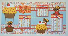 2 Premade Scrapbook Pages 12x12 Layout Paper by bljgravesstudio, $32.99
