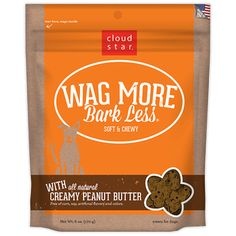 CLOUD STAR WAG MORE BARK LESS SOFT & CHEWY DOG TREATS CREAMY PEANUT BUTTER - BD Luxe Dogs & Supplies