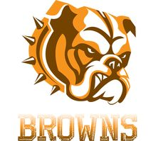 new browns logo. brown is often used on teams to show serious and determined they are. it brings out a more serious emotion in people