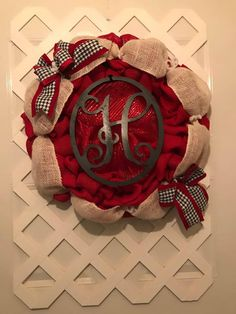 * READY TO PICK UP OR SHIP OUT * Monogram Houndstooth Wreath 10% Off Sale - ENDS: 12/10/17  #Houndstooth #FrontDoorWreath #HoundstoothHomeDecor #GiftForHer #HoundstoothDecor #DoorWreath #UA #SEC #RollTideRoll #CrimsonTide #RollTide #SecConference #Mancave #DormRoomDecor #MancaveDecor #CollegeFootball #CollegiateSports