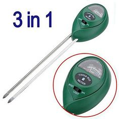 Dimart 3 in 1 Soil Moisture Meter for GardeningFarming Display pH Acidity  Sunlight Testing Usage Green ** Want additional info? Click on the image.