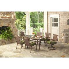 Bloomfield Woven 5 Piece Patio Dining Set With Bare Cushions 2