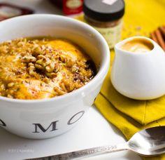 Vegan Omega Boost Pumpkin Pie Oatmeal with Pumpkin Cream. (serves 4-5) Love this website. SOOO many amazing vegan recipes.