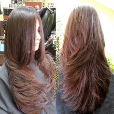 """Foto de Excellent Hair Salon & Spa - """"Cut and style by Kim"""" - Fremont, CA Haircuts For Long Hair With Layers, Haircuts Straight Hair, Haircuts For Medium Hair, Long Layered Haircuts, Long Hair Cuts, Medium Hair Styles, Curly Hair Styles, Brown Hair Balayage, Hair Highlights"""