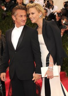 Pin for Later: Hollywood's Hottest Couples Ignite the Met Gala Red Carpet Sean Penn and Charlize Theron