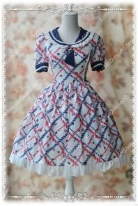Sweet Cotten Summer Navy sweety KC Infanta Dress