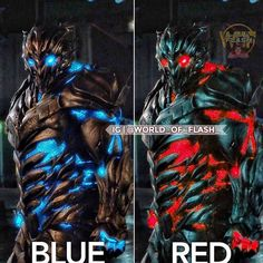 Do you like the red on Savitar or blue?! I dig the red!  #comicsandcoffee  C: @world_of_flash_