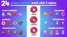 Elevate your workflow with the Sugar Free asset from Justwo. Browse more GUI on the Unity Asset Store. Game Gui, Game Icon, Donut Cartoon, 3d Design Software, Hard Candy, Psd Templates, Unity, Sugar Free, Character Design