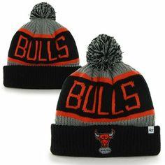 '47 Brand Chicago #Bulls Hardwood Classics Calgary Knit #Hat - Black/Red $17.95
