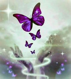 I just love butterflies and purple... TS