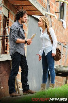 Teo and Annie - I miss Manolo already, he was a great addition to the show!  #CovertAffairsSweepsEntry #CovertAffairs