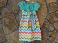 Aqua and Pastel Rainbow Multicolored Chevron by JustSewStinkinCute, $37.00