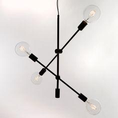 BRONX Taklampe 4XE27 Svart LEDonline.no - 100% fornøyd garanti.